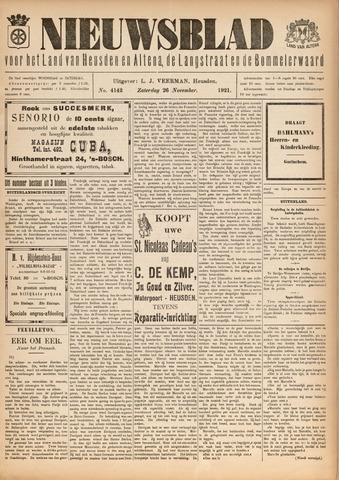 Nieuwsblad het land van Heusden en Altena de Langstraat en de Bommelerwaard 1921-11-26