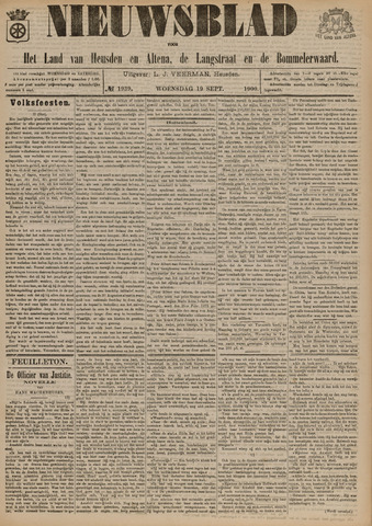 Nieuwsblad het land van Heusden en Altena de Langstraat en de Bommelerwaard 1900-09-19