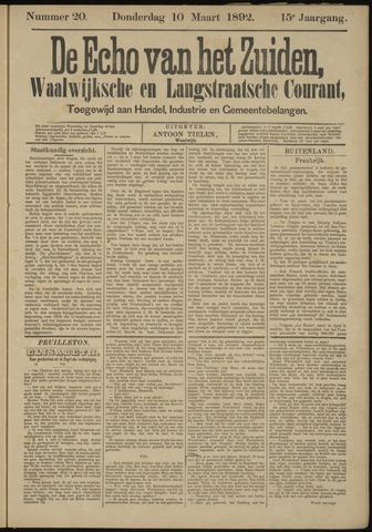 Echo van het Zuiden 1892-03-10