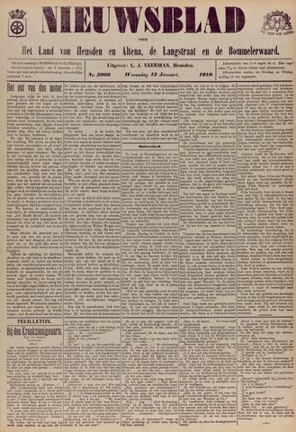 Nieuwsblad het land van Heusden en Altena de Langstraat en de Bommelerwaard 1910-01-12