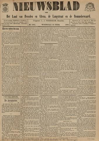 Nieuwsblad het land van Heusden en Altena de Langstraat en de Bommelerwaard 1901-02-13