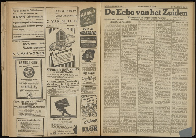 Echo van het Zuiden 1946-04-23