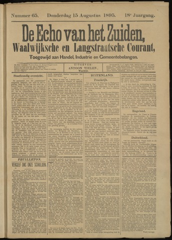 Echo van het Zuiden 1895-08-15