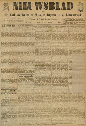 Nieuwsblad het land van Heusden en Altena de Langstraat en de Bommelerwaard 1894-09-05