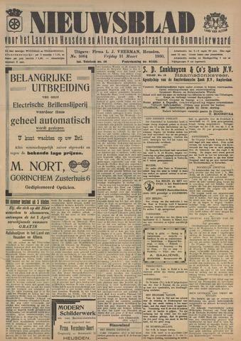 Nieuwsblad het land van Heusden en Altena de Langstraat en de Bommelerwaard 1930-03-21