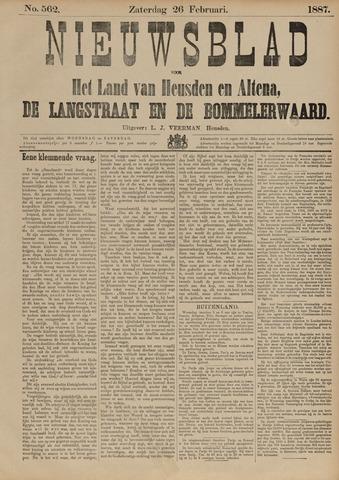 Nieuwsblad het land van Heusden en Altena de Langstraat en de Bommelerwaard 1887-02-26