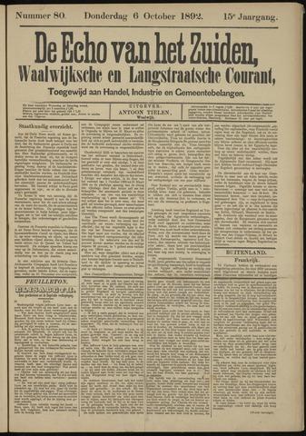 Echo van het Zuiden 1892-10-06