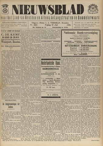 Nieuwsblad het land van Heusden en Altena de Langstraat en de Bommelerwaard 1923-07-27