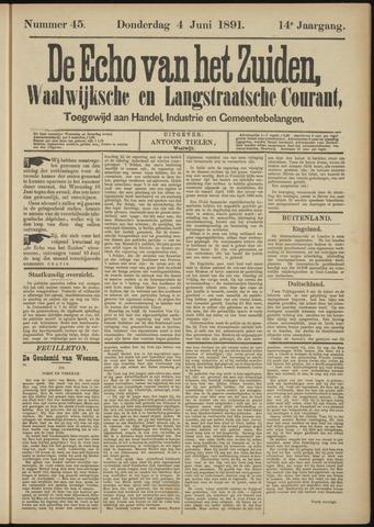 Echo van het Zuiden 1891-06-04
