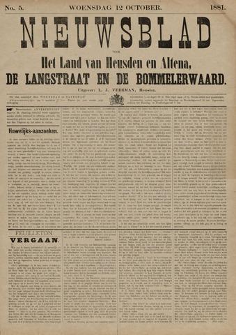 Nieuwsblad het land van Heusden en Altena de Langstraat en de Bommelerwaard 1881-10-12