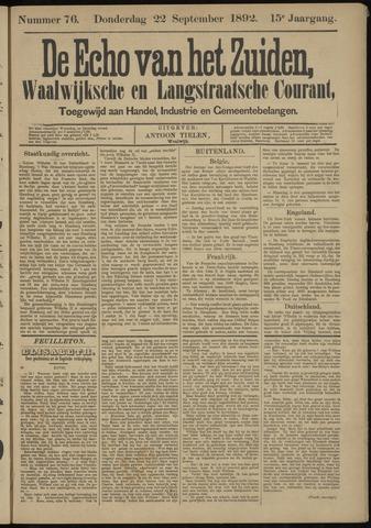 Echo van het Zuiden 1892-09-22