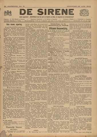 De Sirene 1945-06-25