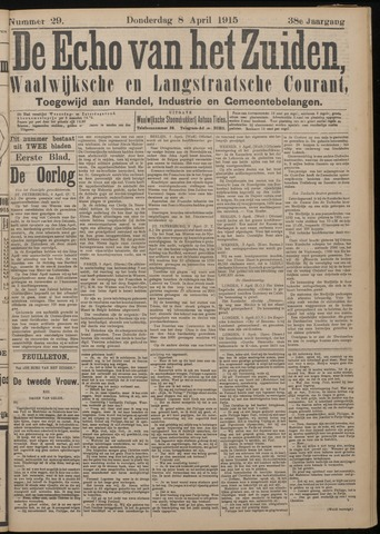 Echo van het Zuiden 1915-04-08