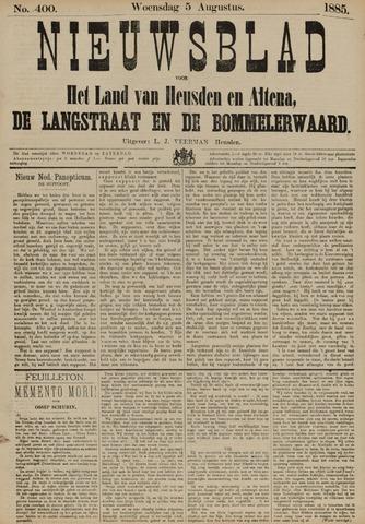 Nieuwsblad het land van Heusden en Altena de Langstraat en de Bommelerwaard 1885-08-05