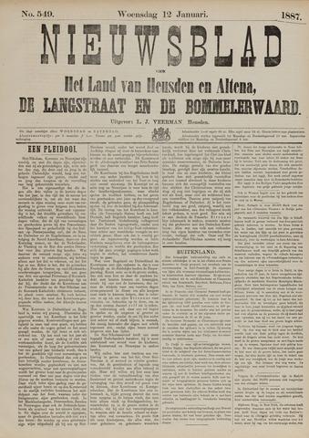 Nieuwsblad het land van Heusden en Altena de Langstraat en de Bommelerwaard 1887-01-12