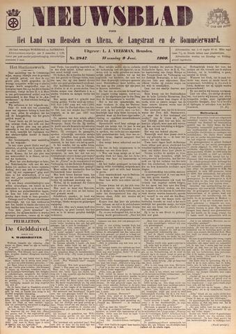 Nieuwsblad het land van Heusden en Altena de Langstraat en de Bommelerwaard 1909-06-09