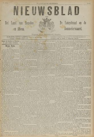 Nieuwsblad het land van Heusden en Altena de Langstraat en de Bommelerwaard 1890-12-24