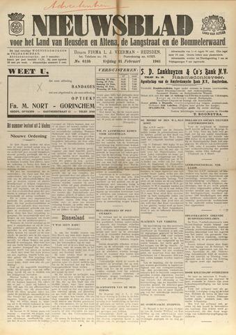 Nieuwsblad het land van Heusden en Altena de Langstraat en de Bommelerwaard 1941-02-21