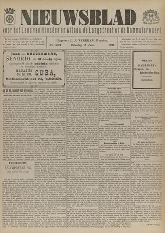 Nieuwsblad het land van Heusden en Altena de Langstraat en de Bommelerwaard 1921-06-11