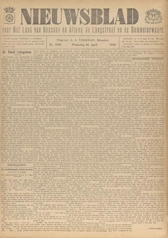 Nieuwsblad het land van Heusden en Altena de Langstraat en de Bommelerwaard 1918-04-24