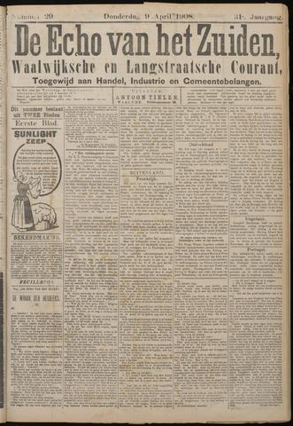Echo van het Zuiden 1908-04-09