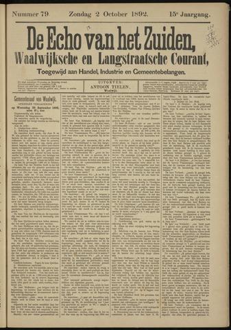 Echo van het Zuiden 1892-10-02