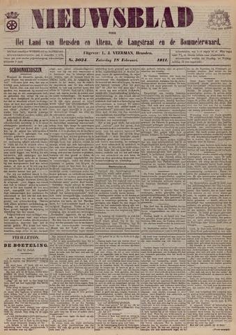 Nieuwsblad het land van Heusden en Altena de Langstraat en de Bommelerwaard 1911-02-18