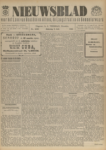 Nieuwsblad het land van Heusden en Altena de Langstraat en de Bommelerwaard 1921-07-02
