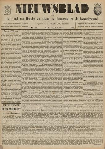 Nieuwsblad het land van Heusden en Altena de Langstraat en de Bommelerwaard 1895-10-09