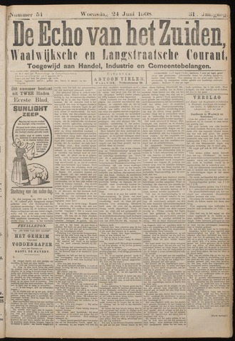 Echo van het Zuiden 1908-06-25