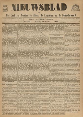 Nieuwsblad het land van Heusden en Altena de Langstraat en de Bommelerwaard 1905-12-27