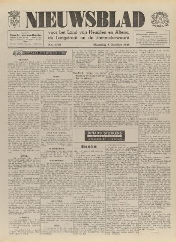 Nieuwsblad het land van Heusden en Altena de Langstraat en de Bommelerwaard 1949-10-03