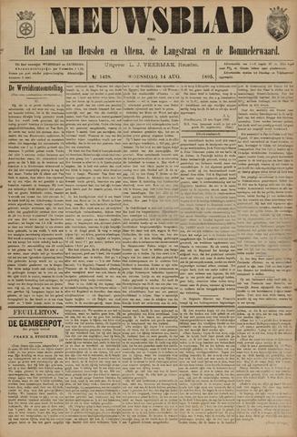 Nieuwsblad het land van Heusden en Altena de Langstraat en de Bommelerwaard 1895-08-14