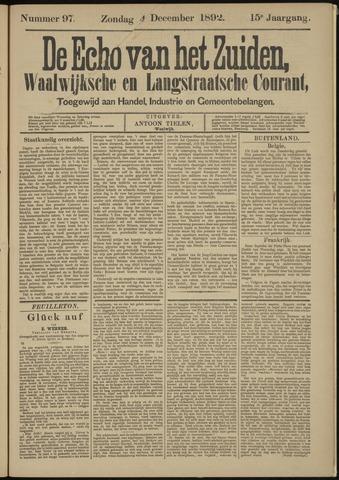 Echo van het Zuiden 1892-12-04