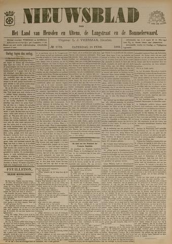 Nieuwsblad het land van Heusden en Altena de Langstraat en de Bommelerwaard 1899-02-18