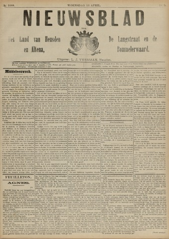 Nieuwsblad het land van Heusden en Altena de Langstraat en de Bommelerwaard 1892-04-13