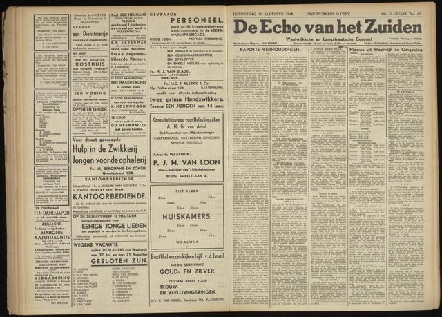 Echo van het Zuiden 1946-08-22