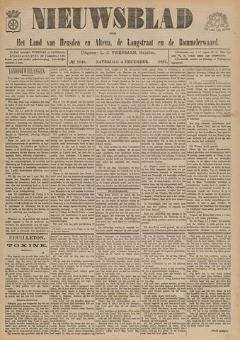Nieuwsblad het land van Heusden en Altena de Langstraat en de Bommelerwaard 1897-12-04
