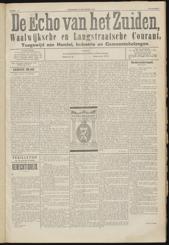 Echo van het Zuiden 1924-09-10