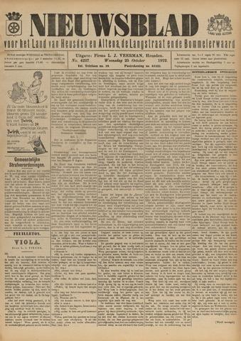 Nieuwsblad het land van Heusden en Altena de Langstraat en de Bommelerwaard 1922-10-25