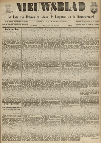 Nieuwsblad het land van Heusden en Altena de Langstraat en de Bommelerwaard 1893-07-22