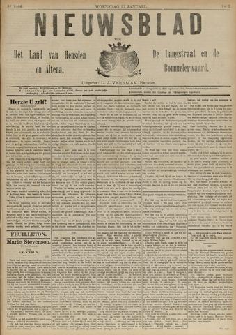 Nieuwsblad het land van Heusden en Altena de Langstraat en de Bommelerwaard 1892-01-27
