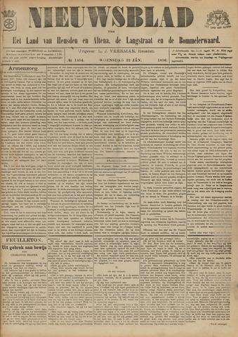 Nieuwsblad het land van Heusden en Altena de Langstraat en de Bommelerwaard 1896-01-22