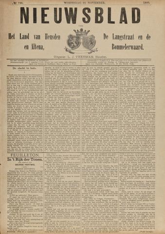 Nieuwsblad het land van Heusden en Altena de Langstraat en de Bommelerwaard 1888-11-21