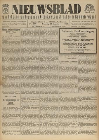 Nieuwsblad het land van Heusden en Altena de Langstraat en de Bommelerwaard 1923-08-22