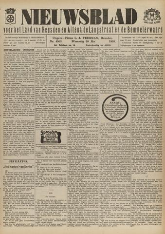 Nieuwsblad het land van Heusden en Altena de Langstraat en de Bommelerwaard 1925-05-20