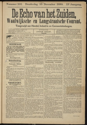 Echo van het Zuiden 1890-12-25