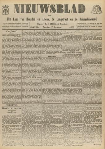 Nieuwsblad het land van Heusden en Altena de Langstraat en de Bommelerwaard 1911-11-11