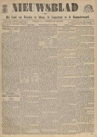 Nieuwsblad het land van Heusden en Altena de Langstraat en de Bommelerwaard 1904-02-10