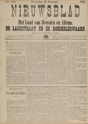 Nieuwsblad het land van Heusden en Altena de Langstraat en de Bommelerwaard 1885-02-25